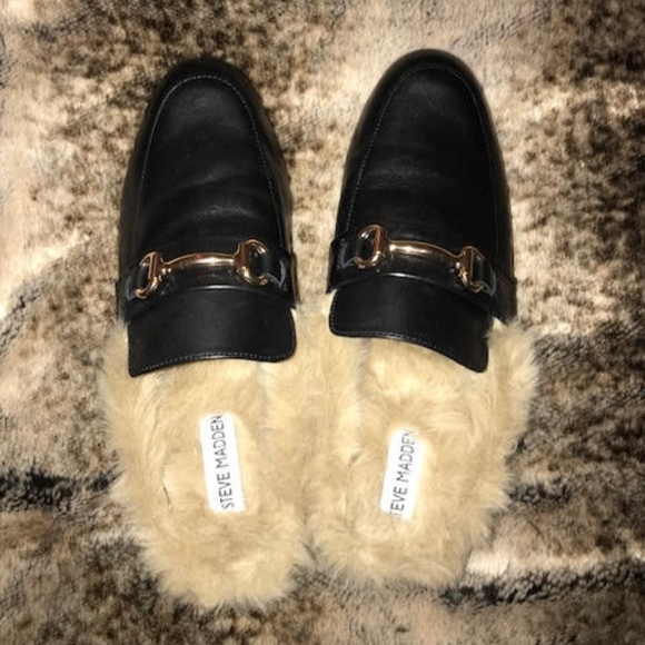 b86d32881d3 Steve Madden Jill Leather Slide-On Mules Shoes